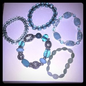 Jewelry - 🆕 Bundle of 5 Blue/Teal Bangle Bracelets